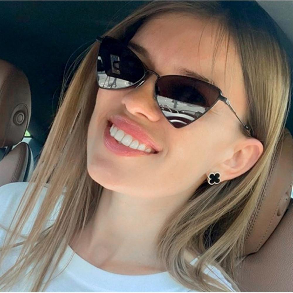 Czarne okulary przeciwsłoneczne romb Hailey 5