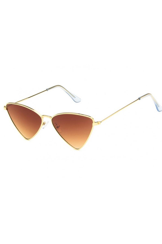 Brązowe okulary przeciwsłoneczne romb Hailey 3