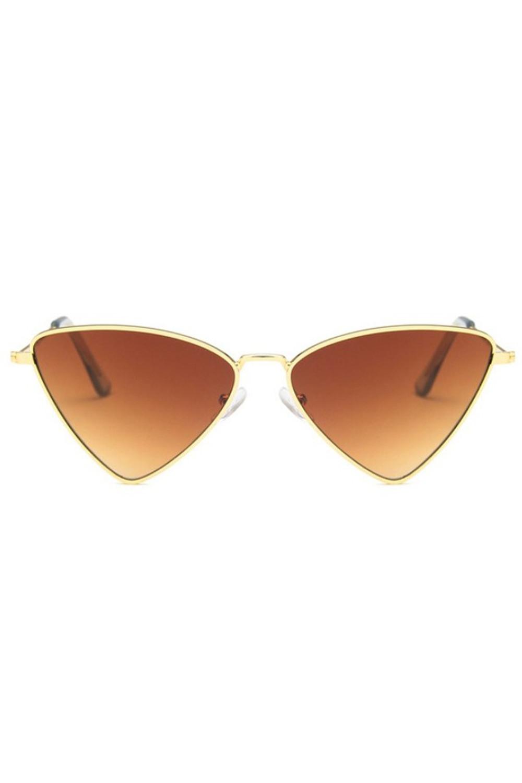 Brązowe okulary przeciwsłoneczne romb Hailey 1