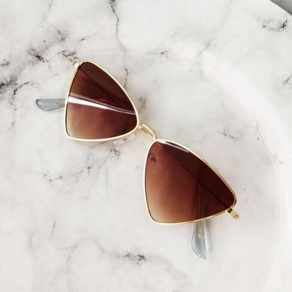 Brązowe okulary przeciwsłoneczne romb Hailey 2