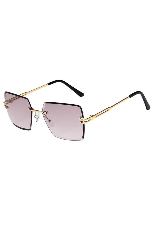 Jasnofioletowe okulary przeciwsłoneczne bez oprawek prostokątne Sasha 2