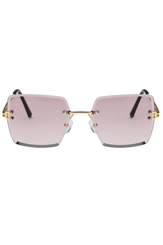 Jasnofioletowe okulary przeciwsłoneczne bez oprawek prostokątne Sasha 1