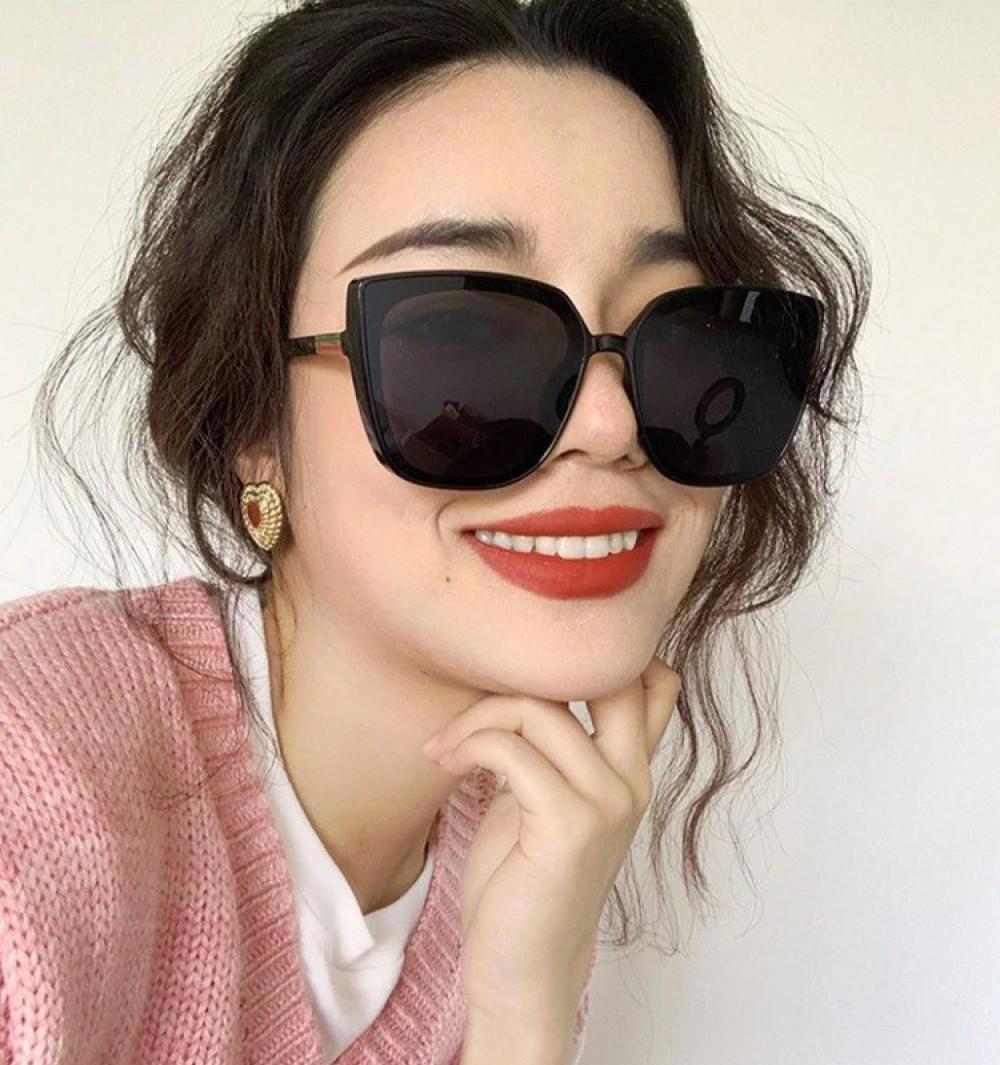 Czarne duże okulary przeciwsłoneczne osy Ivy 2