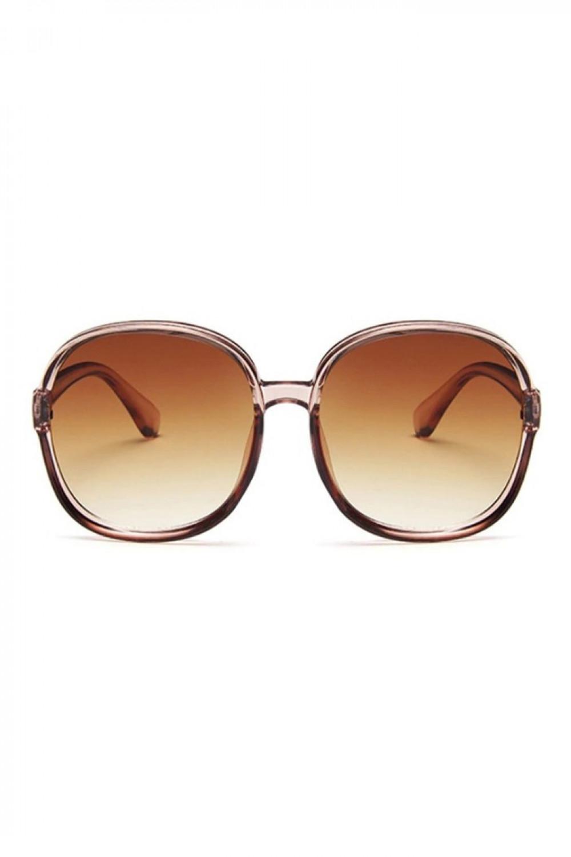 Brązowe duże okulary przeciwsłoneczne diamenty Caroline 1