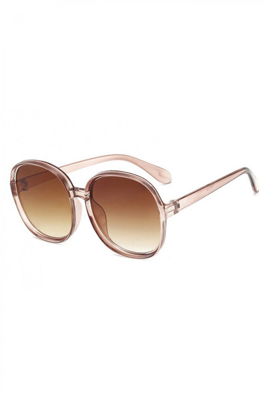 Brązowe duże okulary przeciwsłoneczne diamenty Caroline 2