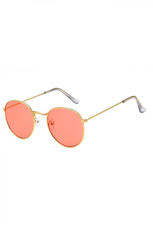 Łososiowe okulary przeciwsłoneczne okrągłe Summer 2