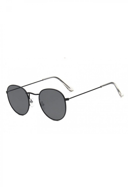 Czarne okulary przeciwsłoneczne okrągłe Summer 2