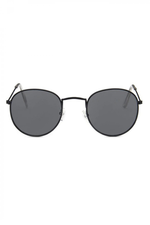 Czarne okulary przeciwsłoneczne okrągłe Summer 1