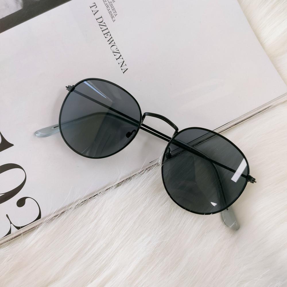 Czarne okulary przeciwsłoneczne okrągłe Summer 3