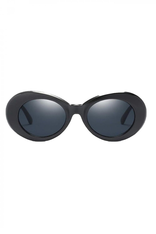 Czarne okulary przeciwsłoneczne owalne Jessy 1