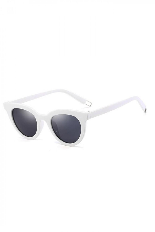 Czarne okulary przeciwsłoneczne z białą oprawką Leigh 2