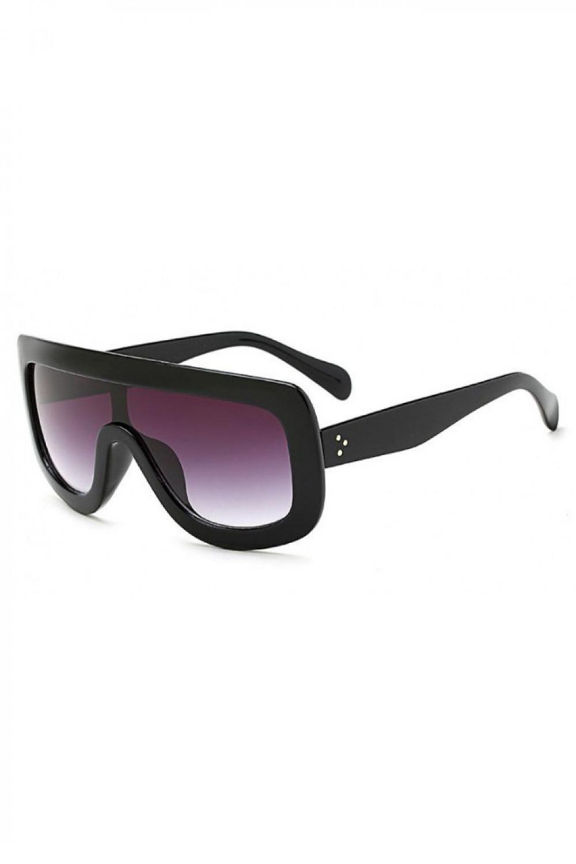 Czarne duże okulary przeciwsłoneczne kwadraty z grubą oprawką Bold 2