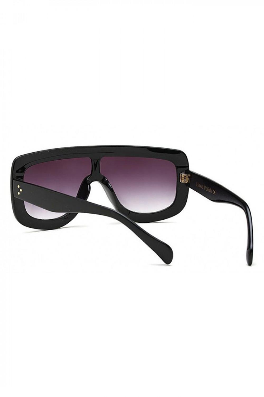 Czarne duże okulary przeciwsłoneczne kwadraty z grubą oprawką Bold 3