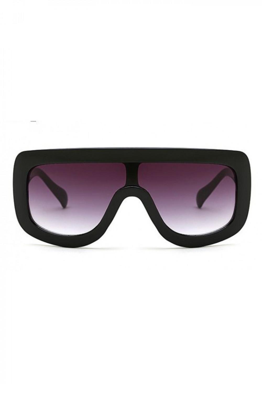 Czarne duże okulary przeciwsłoneczne kwadraty z grubą oprawką Bold 1