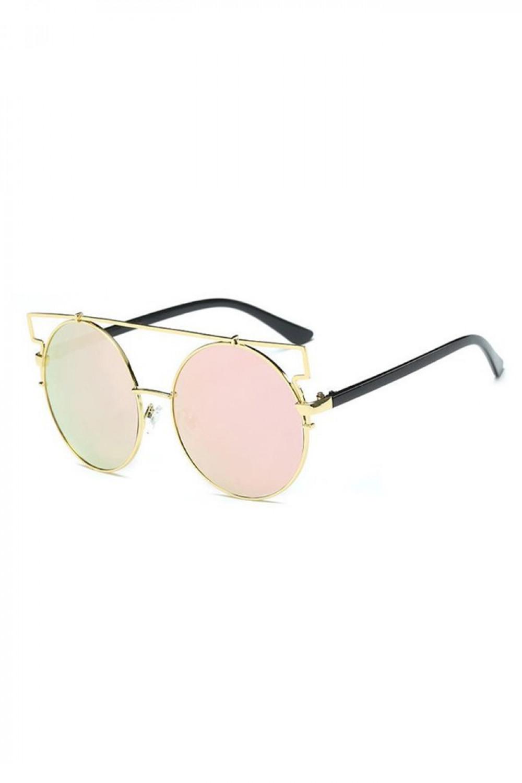 Różowe lustrzane okulary przeciwsłoneczne kocie oko Mirror 2