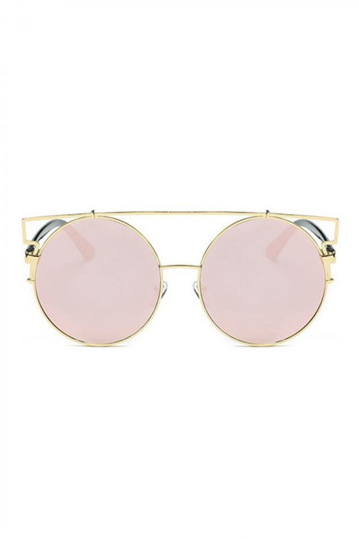 Różowe lustrzane okulary przeciwsłoneczne kocie oko Mirror 1