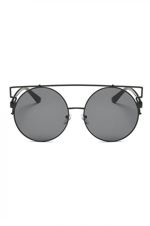 Czarne lustrzane okulary przeciwsłoneczne kocie oko Mirror 1