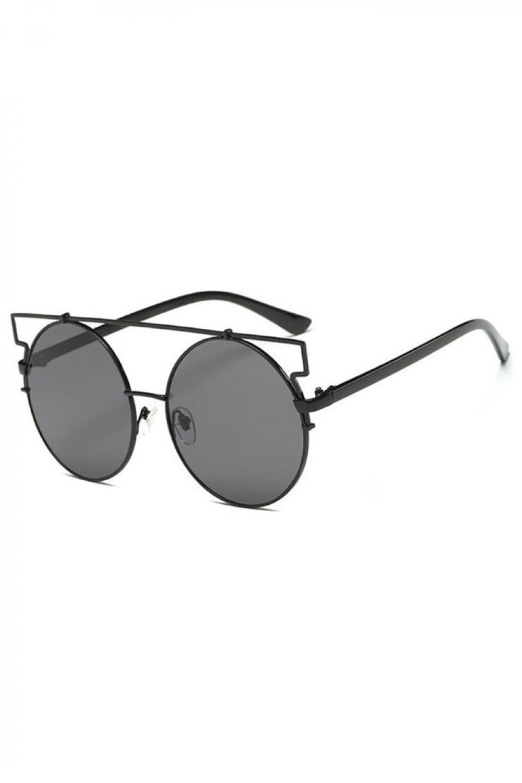 Czarne lustrzane okulary przeciwsłoneczne kocie oko Mirror 2