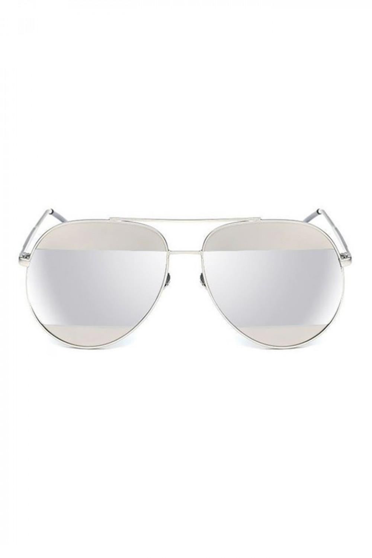 Srebrne lustrzane okulary przeciwsłoneczne aviatorki Cheins 1