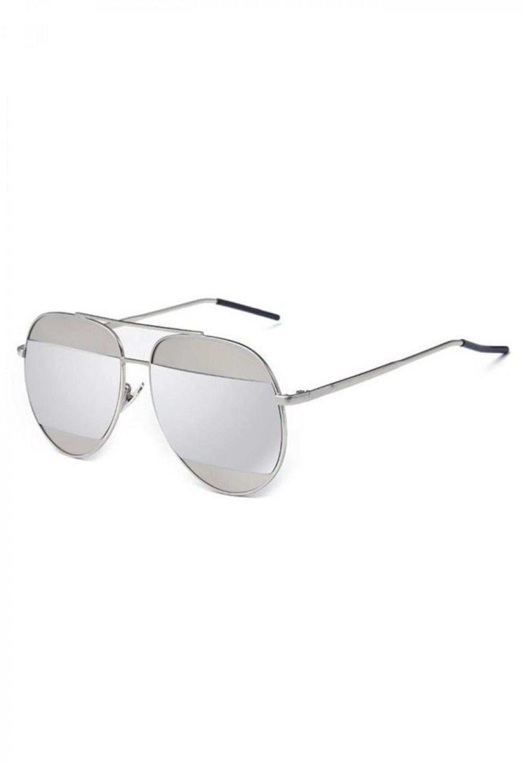 Srebrne lustrzane okulary przeciwsłoneczne aviatorki Cheins 2