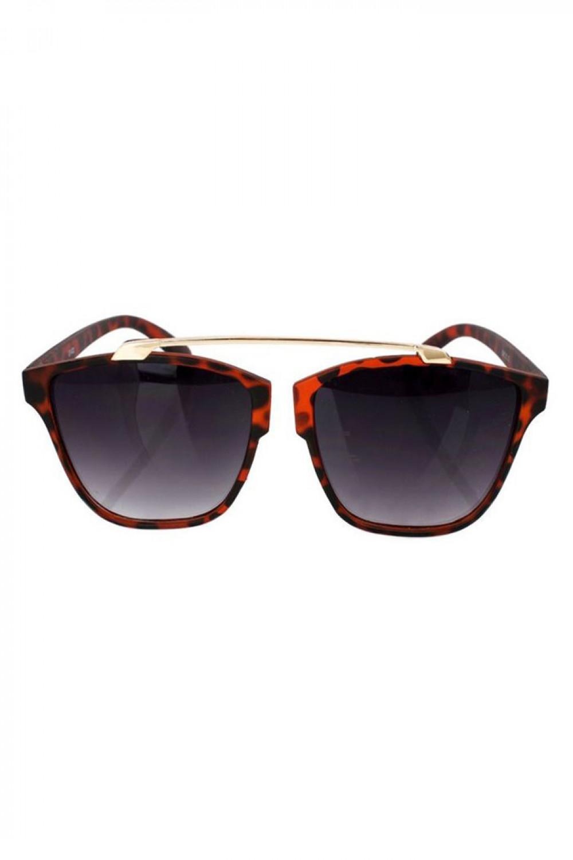 Czarne panterkowe okulary przeciwsłoneczne kocie oko Cherry 1