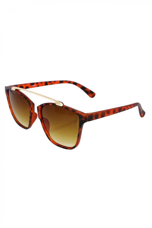 Brązowe panterkowe okulary przeciwsłoneczne kocie oko Cherry 2