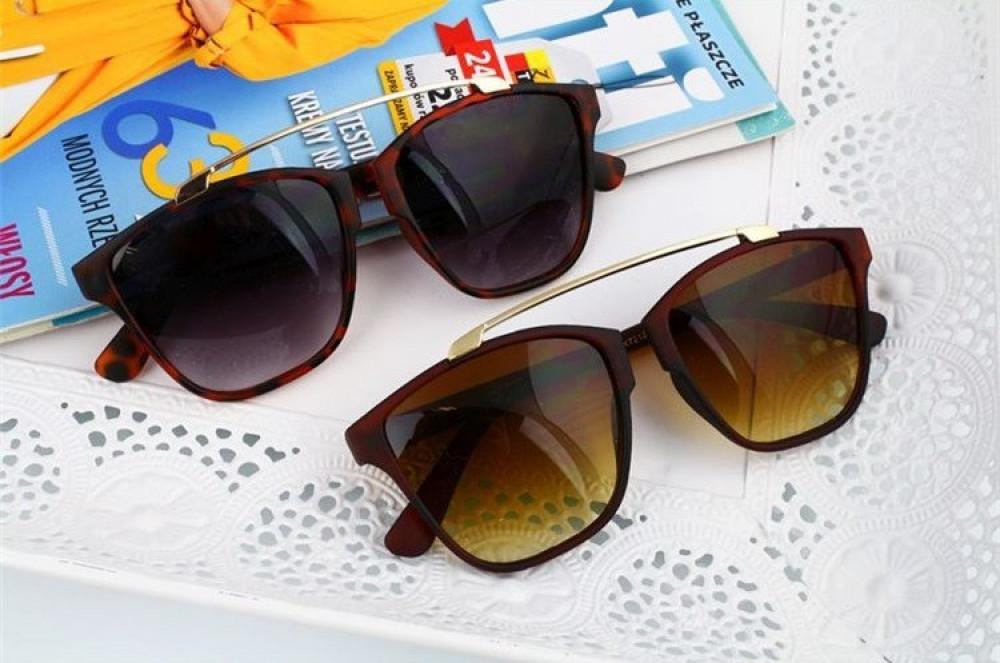 Brązowe panterkowe okulary przeciwsłoneczne kocie oko Cherry 3