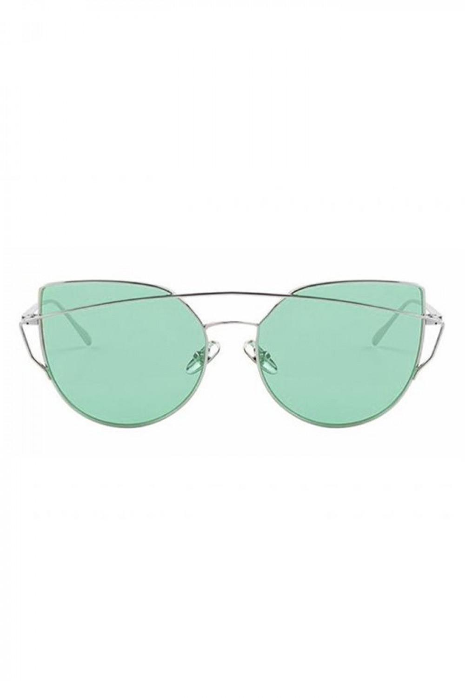 Miętowe transparentne okulary przeciwsłoneczne nowoczesne aviatorki Selena 1