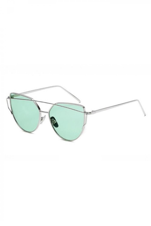 Miętowe transparentne okulary przeciwsłoneczne nowoczesne aviatorki Selena 2