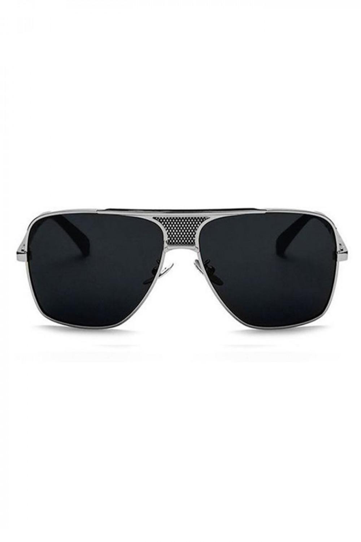 Czarne okulary przeciwsłoneczne męskie duże kwadraty Savage 1