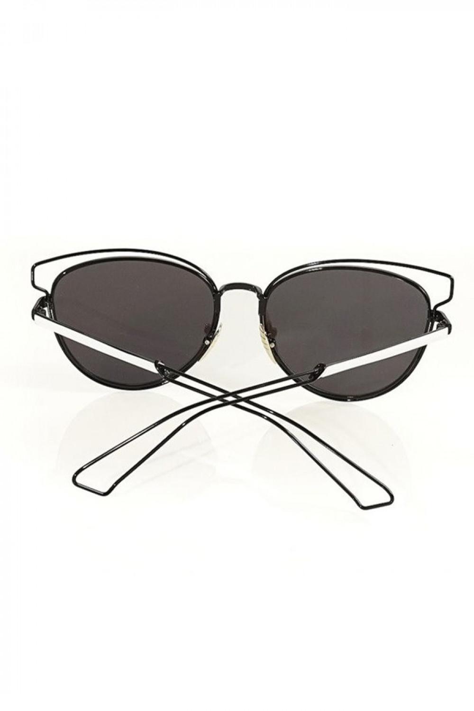 Czarne okulary przeciwsłoneczne motylki Dafne 2