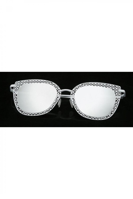 Zielono-złote okulary przeciwsłoneczne kocie oko Sirena 3