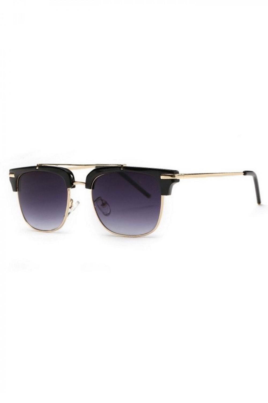 Czarne okulary przeciwsłoneczne clubmaster Georgi 2
