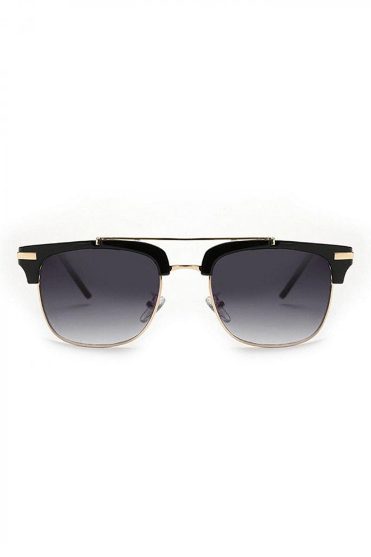Czarne okulary przeciwsłoneczne clubmaster Georgi 1