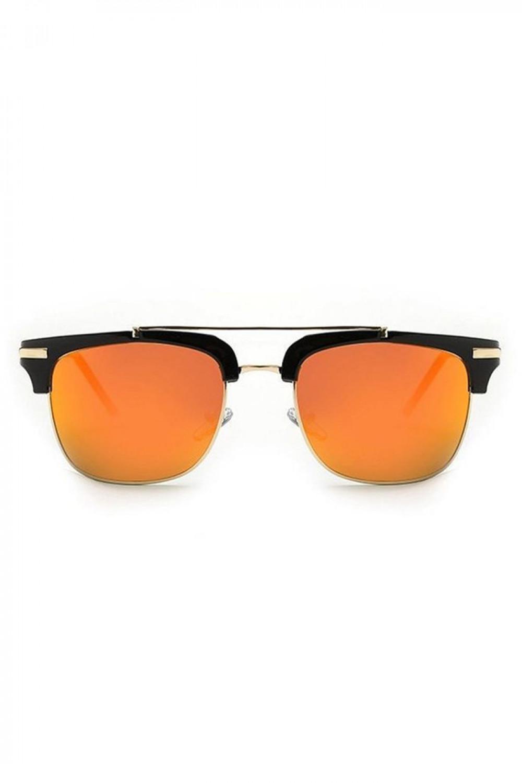 Pomarańczowe okulary przeciwsłoneczne clubmaster Georgi 1