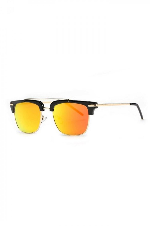 Pomarańczowe okulary przeciwsłoneczne clubmaster Georgi 2