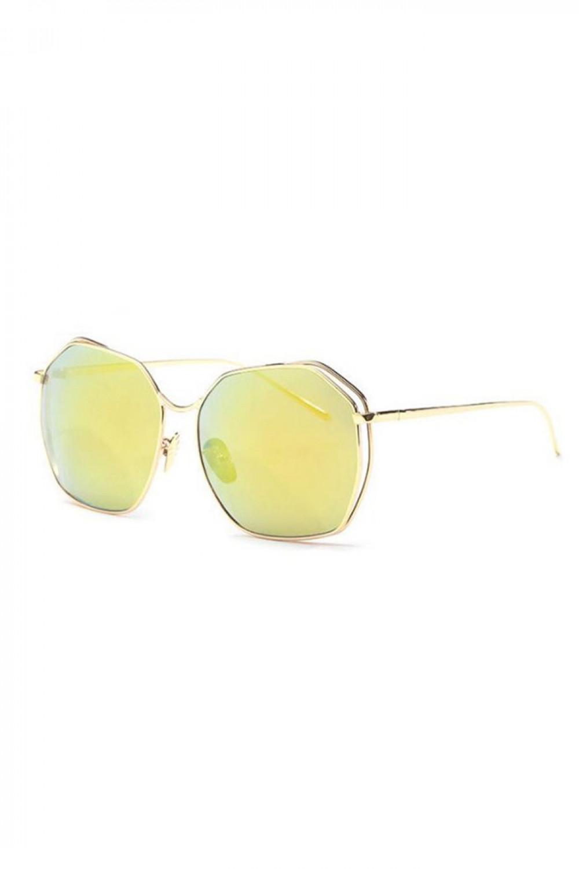 Żółte duże okulary przeciwsłoneczne kwadraty Jasmine 2