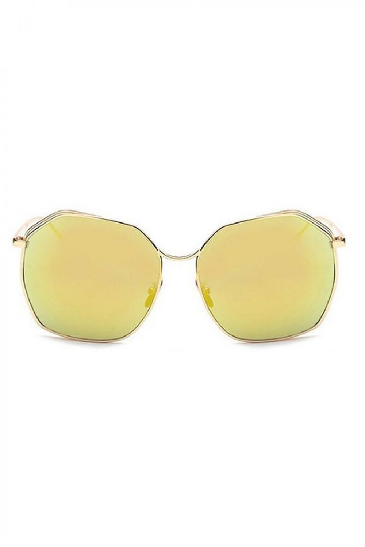 Żółte duże okulary przeciwsłoneczne kwadraty Jasmine 1
