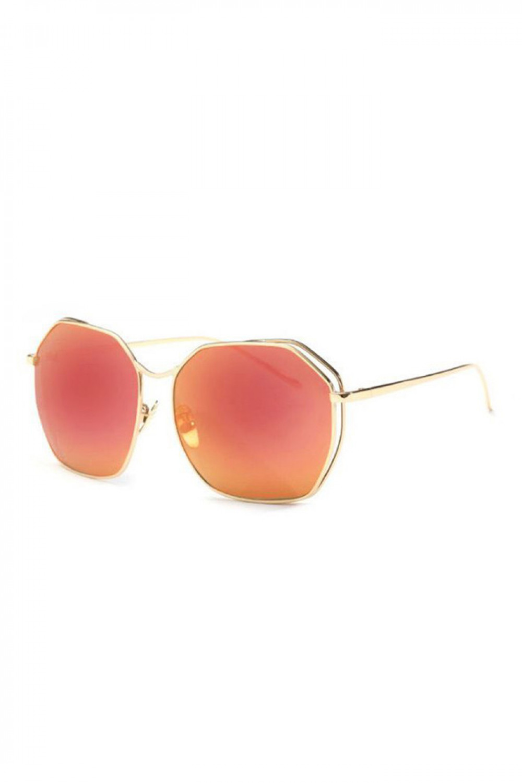 Czerwone duże okulary przeciwsłoneczne kwadraty Jasmine 2