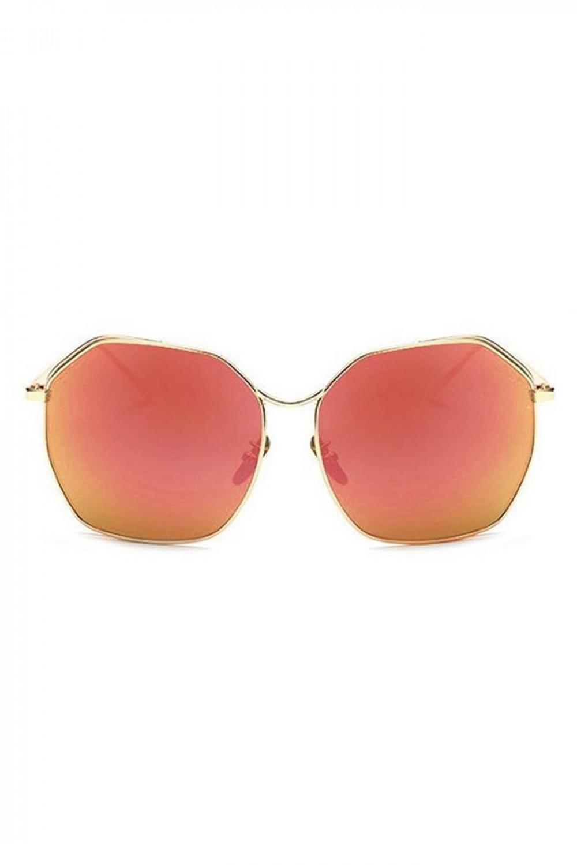 Czerwone duże okulary przeciwsłoneczne kwadraty Jasmine 1