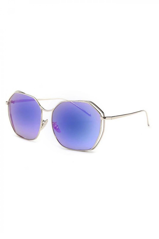Niebieskie duże okulary przeciwsłoneczne kwadraty Jasmine 2