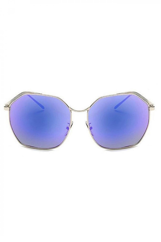 Niebieskie duże okulary przeciwsłoneczne kwadraty Jasmine 1