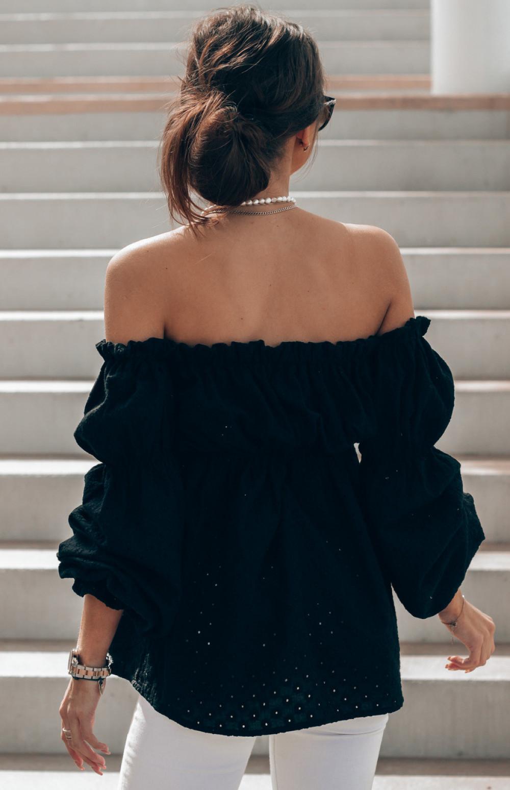 Czarna haftowana bluzka hiszpanka Salma 5