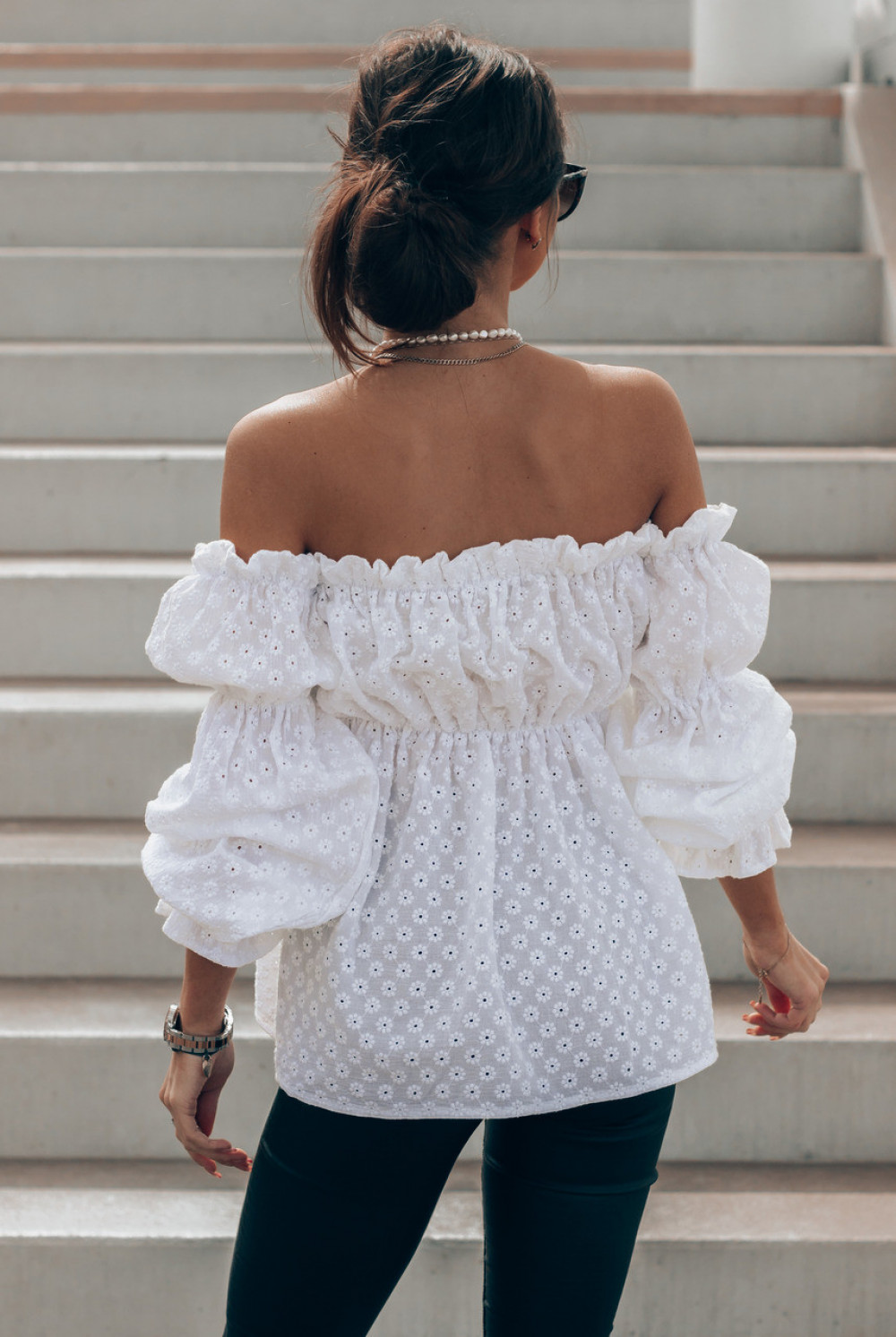 Biała haftowana bluzka hiszpanka Salma 2