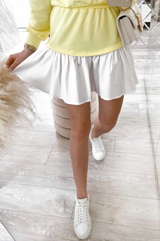 Żółty zestaw spódniczki i bluzy Dulce 5
