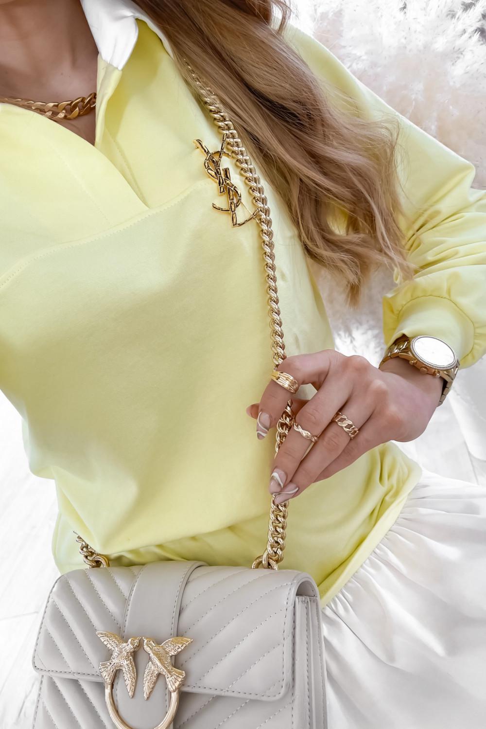 Żółty zestaw spódniczki i bluzy Dulce 4