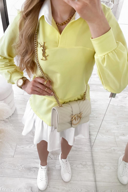 Żółty zestaw spódniczki i bluzy Dulce 3