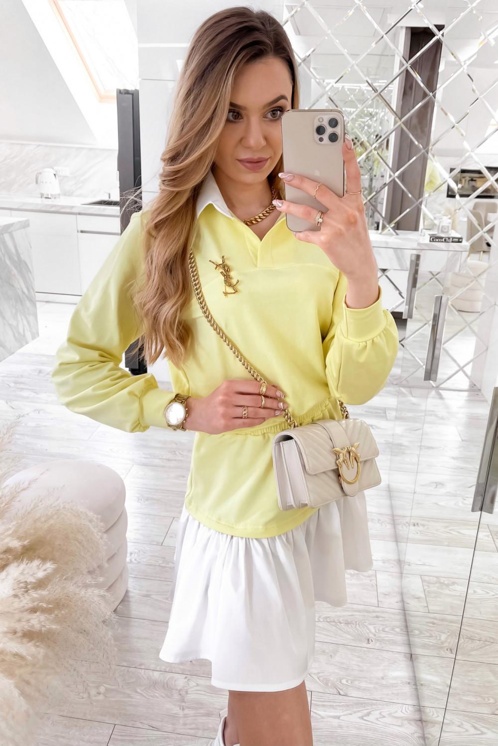 Żółty zestaw spódniczki i bluzy Dulce 2