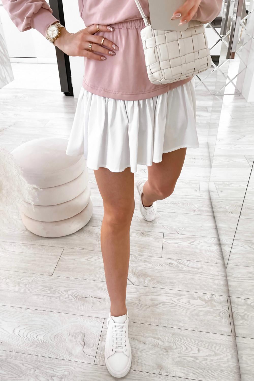 Jasnoróżowy zestaw spódniczki i bluzy Dulce 6