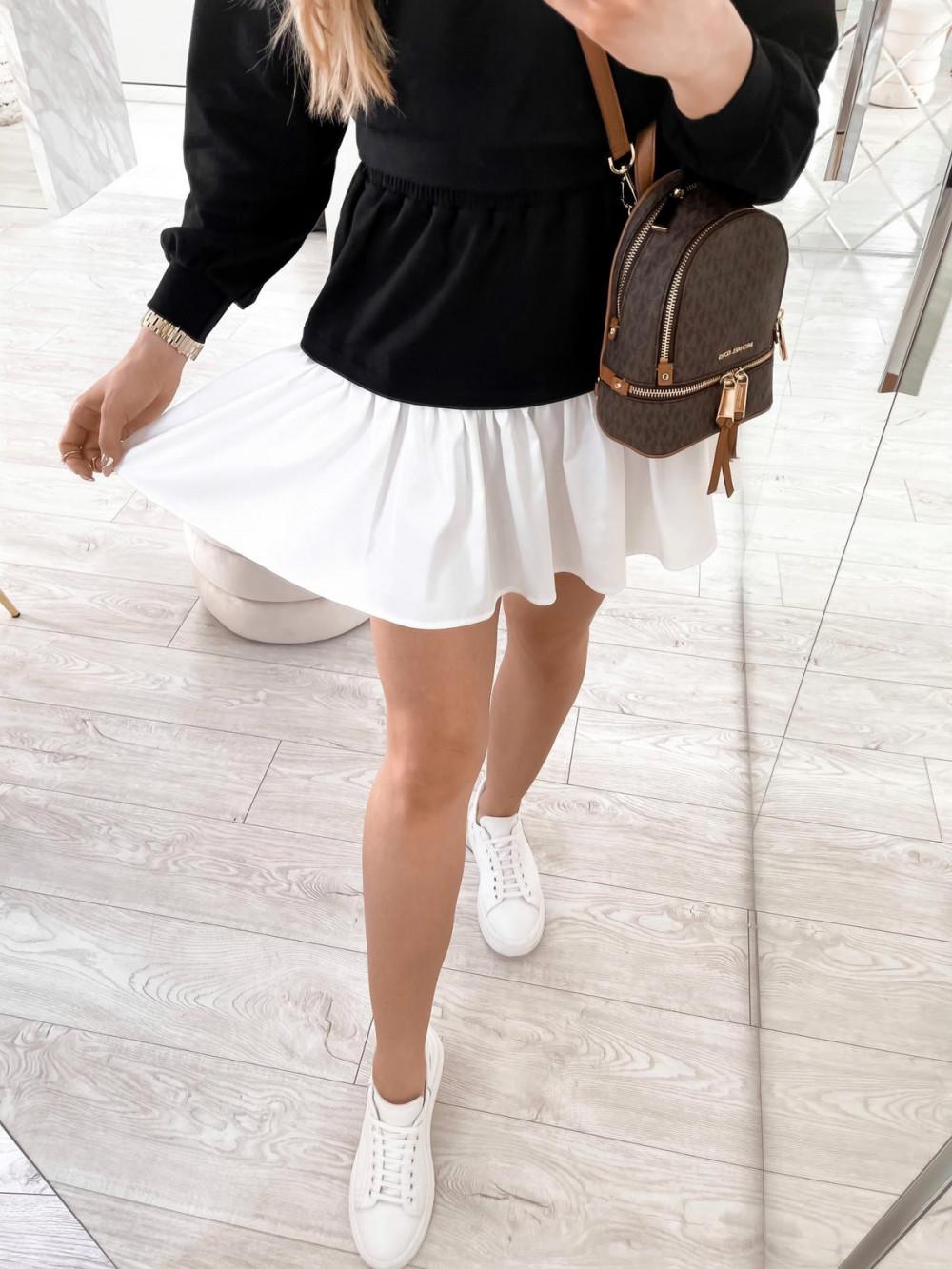 Czarny zestaw spódniczki i bluzy Dulce 6